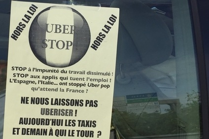 Paris taxi drivers are also unhappy with Uber with their protests going further by setting fire to minicabs they believe are taking away their business