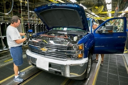 Although GM has nothing like the presence it used to have in Flint, it still maintains an assembly plant and supporting facilities turning out monster pickup trucks like this Chevrolet Silverado 2500HD