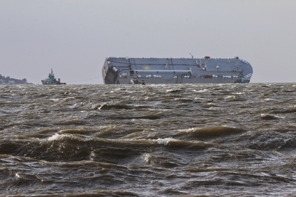 Salvers are now on board Hoegh Osaka as storm abates