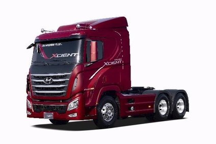 Hyundai is targeting western brands like Volvo and Mercedes with Chinese built Trago Xcient heavy truck line