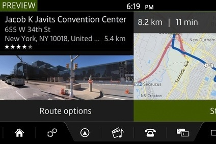 JLRs new InControl Touch Pro in Route Preview with Street View mode