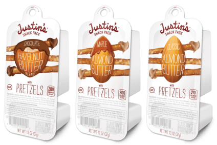 Justins has added a snack pack line to its range.