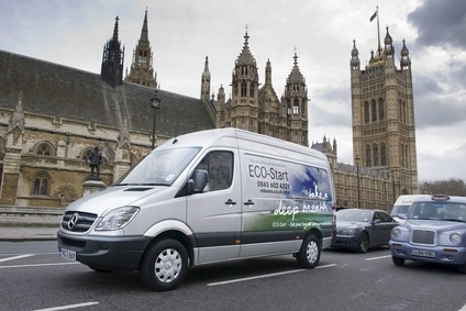 The restructured used vehicle operation will turn around used Sprinters like this 2007 pictured outside Parliament in London