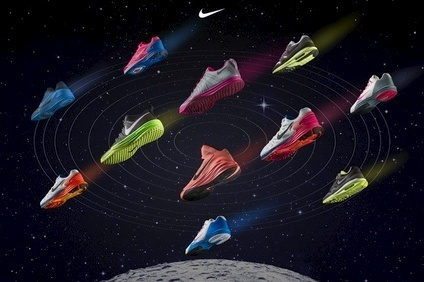 Nike's commitment to innovation includes Lunarlon cushioning technology, inspired by images of astronauts walking on the moon