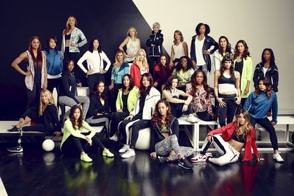 Nike unveiled its spring/summer 2015 women's collection with 27 of the world's top athletes