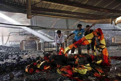 At least seven people were killed in the blaze at Bangladeshs Aswad Composite Mills last year