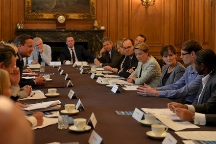 Cameron hosted roundtable including executives from Mars and Sainsbury