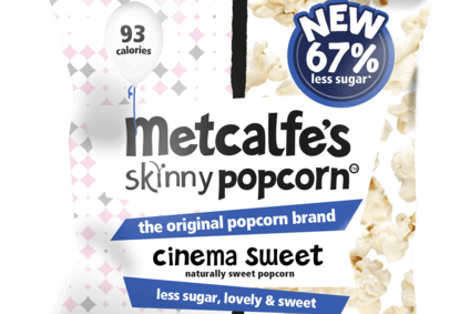 Metcalfes Skinny has launched its first stevia-based popcorn