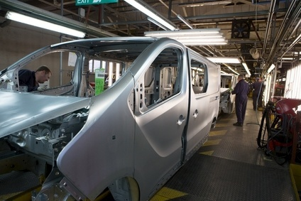 UK van production at the Vauxhall plant in Luton