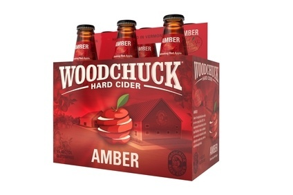 The packaging covers four Woodchuck flavours