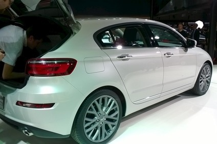 There was plenty of interest in the Hatch 3 at the Qoros stand