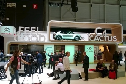 Citroens Cactus was a big draw at Geneva