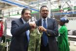 Ranjan Mahtani, Epic Group chairman and CEO, and Dr Arkebe Oqubay, special advisor to the Ethiopian Prime Minister, with some of the first garments produced at the Hawassa Industrial Park