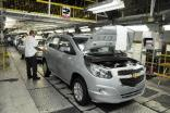A GM Brazil assembly line rolls out Chevrolet family cars. The economy, production and sales all improved in 2018 though exports slumped