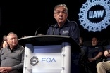 The UAW's Dennis Miller and FCA chief Sergio Marchionne pictured at the start of the talks