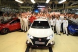 Honda started Civic Type R production in Swindon, England, during July