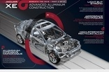 Jaguar takes a step further down the aluminium path with the extensive use of aluminium on the XE