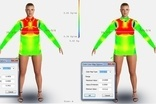 Optitex Virtual Product Development cloth colour tension & stretch map