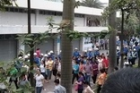 Police and workers inside the Yue Yuen complex (Photo credit: China Labour Bulletin)