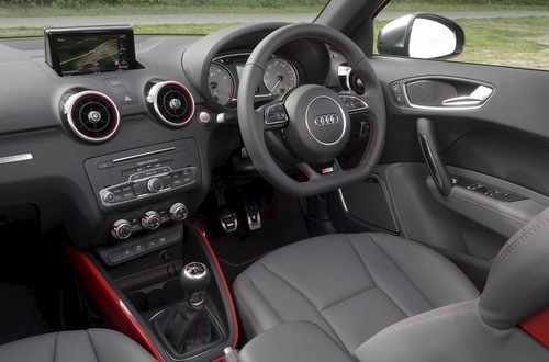 S1 touches include metal pedal trims, flat-bottomed steering wheel, leather trim and keyless ignition