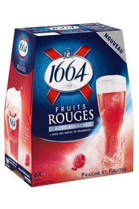 Along with the raft of new products, Kronenbourg has released a Fruits Rouge extension of its 1664 range
