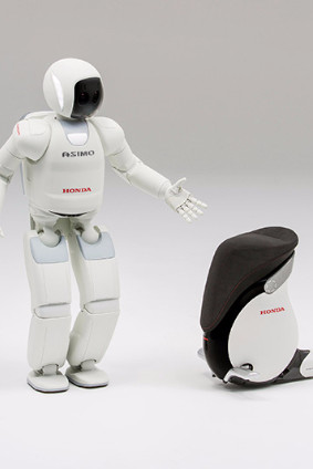 Attendants riding the UNI-CUB ß, Honda's personal mobility device, will escort travellers arriving on certain flights to the specially-arranged demonstration area, where ASIMO will demonstrate multiple moves such as dancing and kicking a soccer ball and introduce various services the airport offers