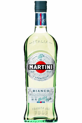 The new Martini design features racing stripes