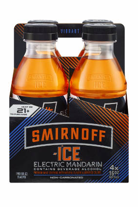 Smirnoff Ice Electric, which is available in Mandarin and Electric Berry versions, is packaged in resealable PET