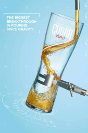 Molson Coors new glassware is designed for Cobra lager