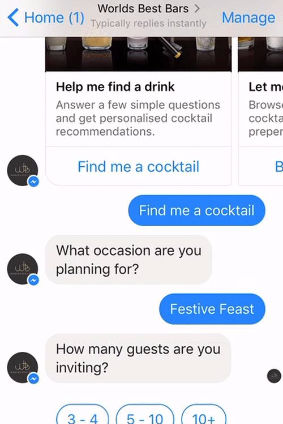 Pernod Ricards chatbot will be available throughout the festive season