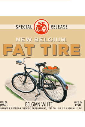 New Belgium Brewings Fat Tire Belgian White Ale