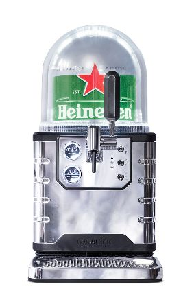 The countertop Blade system takes eight-litre kegs