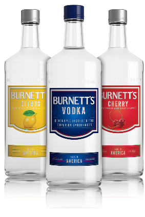 Burnetts is the fourth-largest domestic vodka brand in the US, according to Heaven Hill Brands