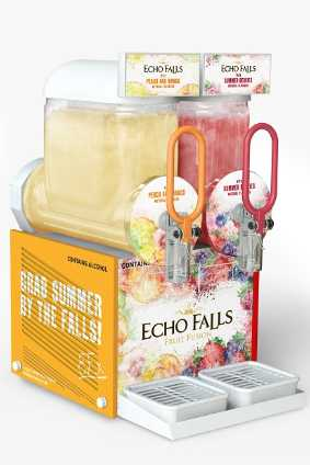 The new Echo Falls Frozen Falls machines were trialled this summer in UK pubs