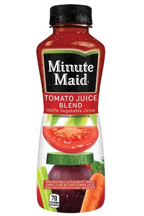 The Coca-Cola Cos Minute Maid Tomato Juice Blend will roll out next year in the US convenience channel