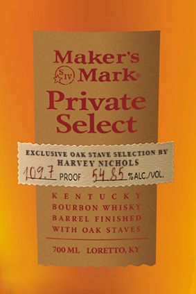 Harvey Nichols Makers Mark Private Select is limited to 252 bottles