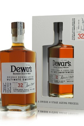 The Dewars Double Double blended Scotch range comprises three SKUs, headed by the 32 Years Old