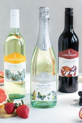 The Lindemans range will comprise three variatals - Chardonnay, Cabernet Sauvignon and a sparkling blend