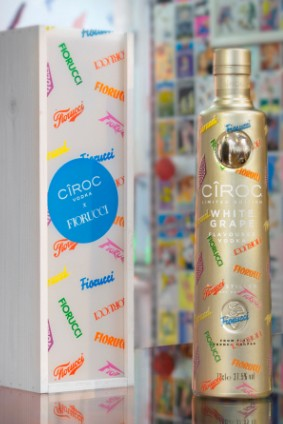 The Fiorucci pack of Ciroc White Grape vodka is a limited edition