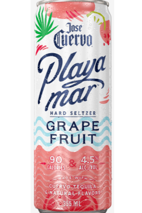 Available in two flavours, Cuervos Playamar Tequila Hard Seltzer contains 90 calories per can
