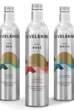 Limerick Lane Cellars Revelshine wine brand comes in aluminium bottles