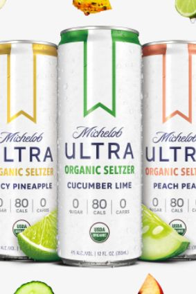 Michelob Ultra Organic Seltzer hits the US early next year