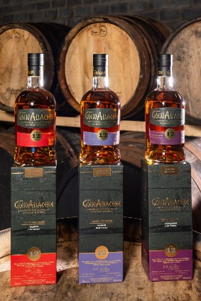 The GlenAllachie Virgin Oak Series comprises single malts finished in three different types of oak casks