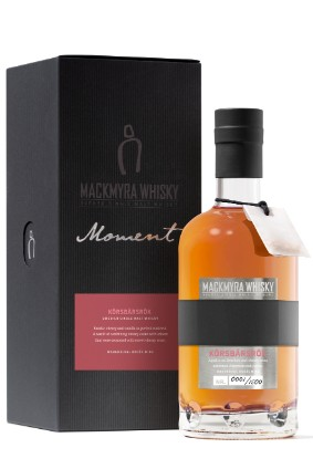 A total of 1,500 units of Mackmyra's Moment Körsbärsrök will be available