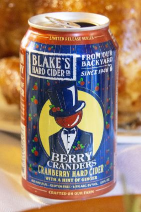 Berry Cranders is a hard cider flavoured with cranberry and ginger
