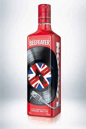Beefeaters music-themed bottle is the first in an annual limited edition pack offering