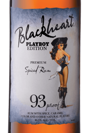 Blackheart rum has been an advertising partner with the Playboy brand for about two years