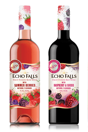 The Echo Falls fruit fusion range (two of which are pictured above) launches later this Summer in the UK