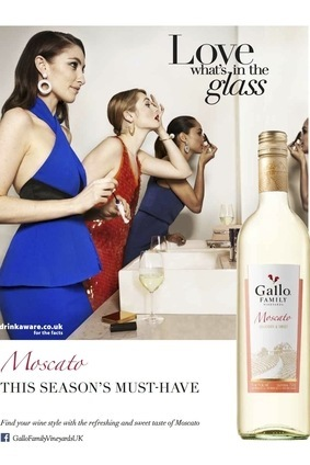 This print ad forms part of E&J Gallos Moscato: This Seasons Must-Have campaign in the UK