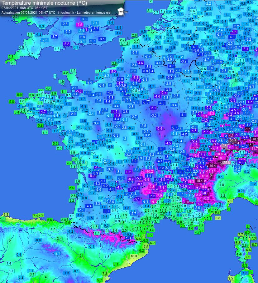Weather frost - infoclimat